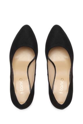 Kemal Tanca Siyah Kadın Vegan Klasik Topuklu Ayakkabı 22 2048 BN AYK 4