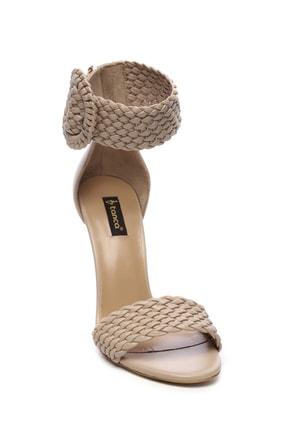 Kemal Tanca Hakiki Deri Bej Kadın Klasik Topuklu Ayakkabı 299 10595 02 BN AYK Y19 1