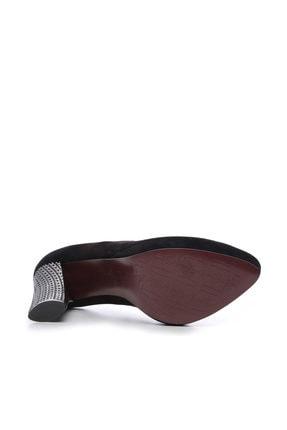 Kemal Tanca Siyah Kadın Vegan Klasik Topuklu Ayakkabı 22 2048 BN AYK 3