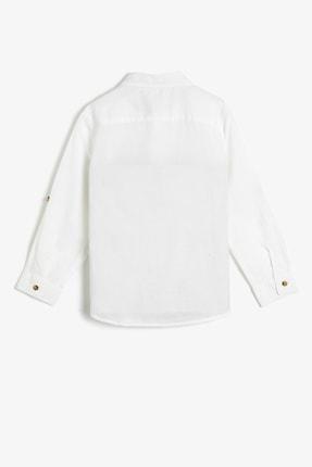 Koton Basic Uzun Ve Katlanabilir Kollu Klasik Yaka Gömlek 1