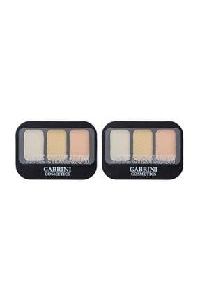 Gabrini Nude Eyeshadow 3'lü Far 6 Gr No 102 X 2 Adet 0