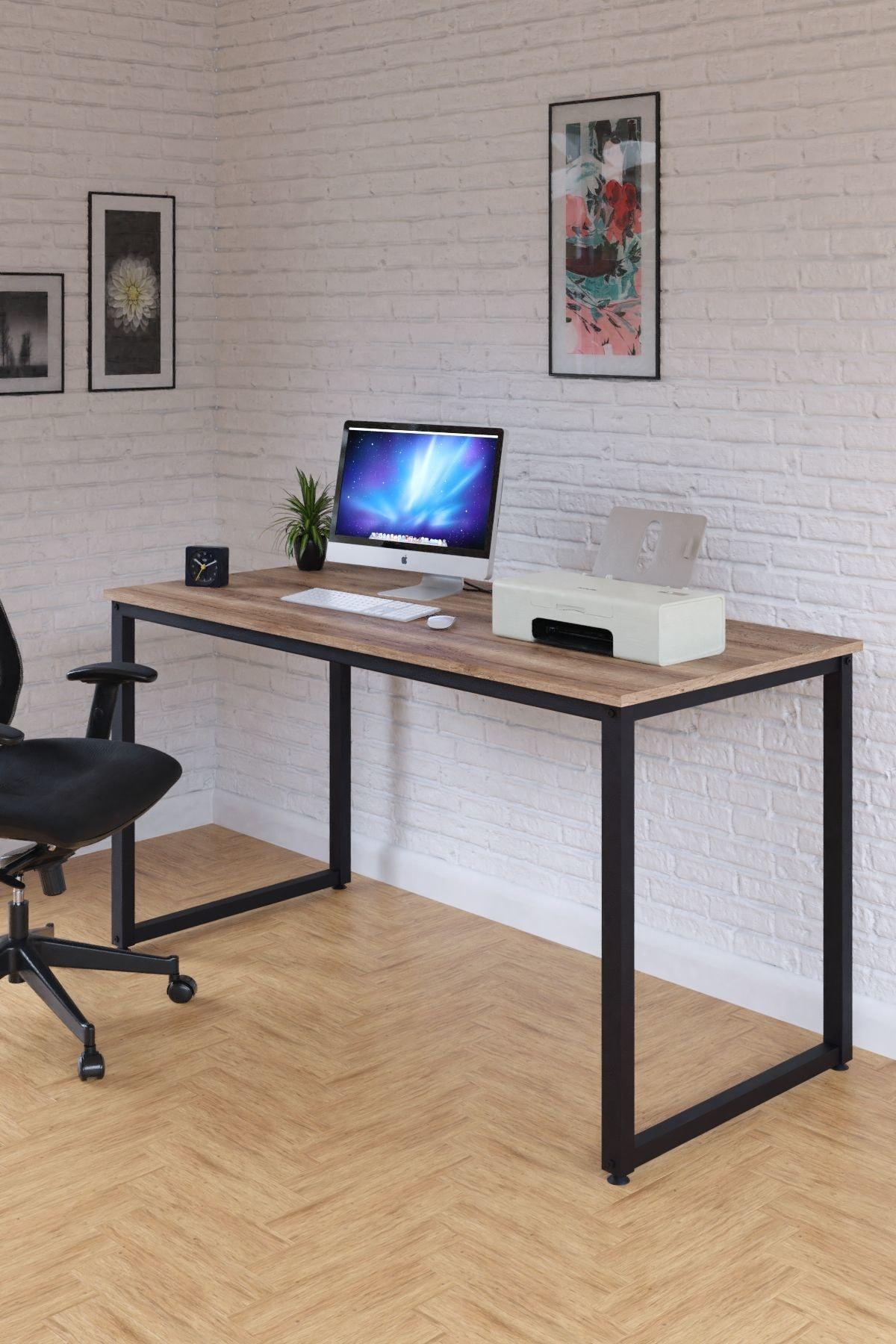 Çalışma Masası, Bilgisayar Masası, Ofis Masası (60x140 Cm, Sakremento)