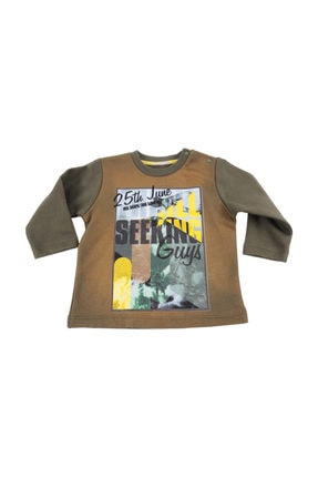 Küçük Erkek Çocuk T-Shirt HAKI 9-12 Ay 82M1JMR63