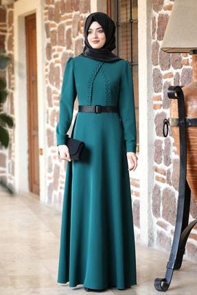 Kadın Zümrüt Eliz Tesettür Elbise FVL2741