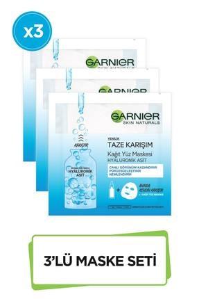 Garnier Taze Karışım Kağıt Yüz Maskesi Hyaluronik 3'lü Set 86905958239422 0