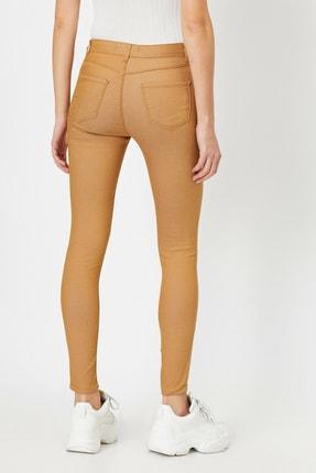 Koton Kadın Kahve Cep Detayli Pantolon 3