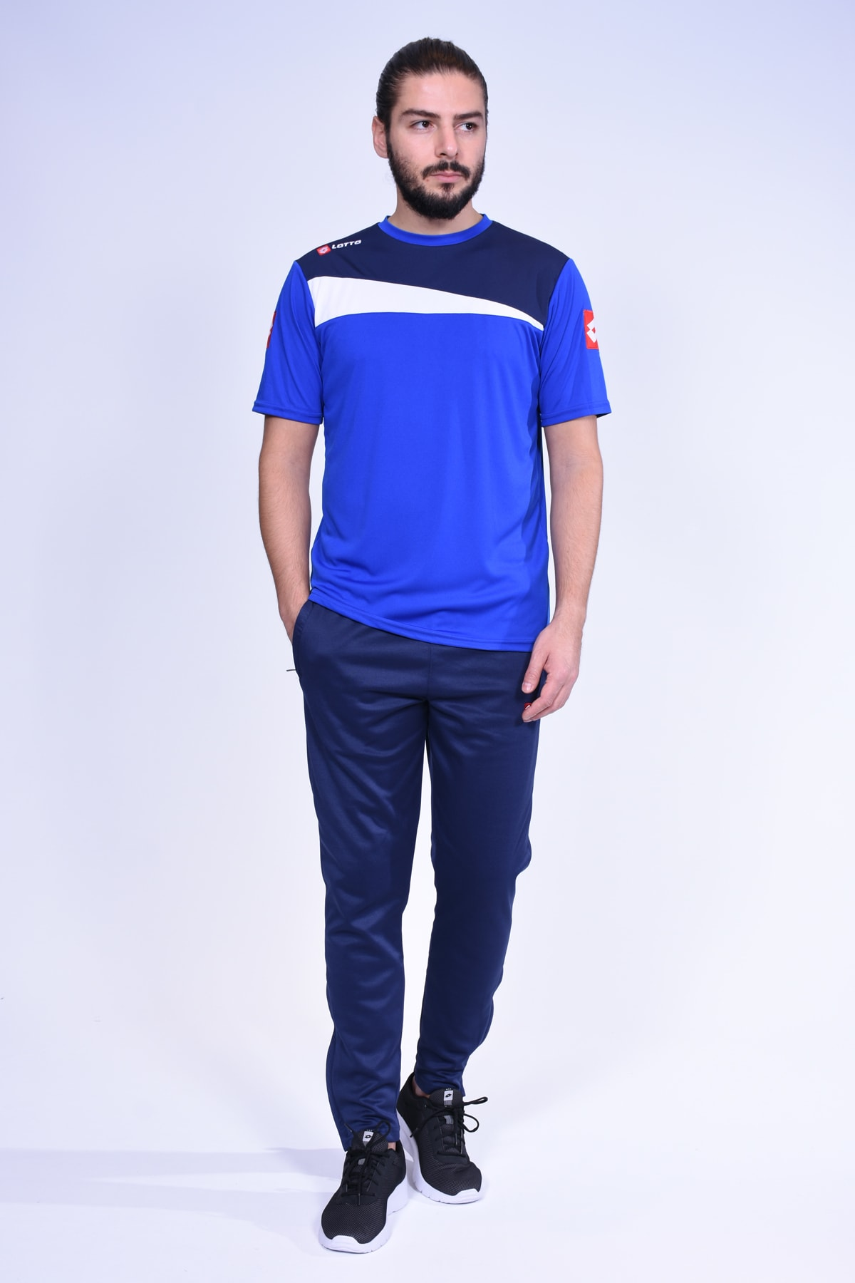- T-shirt - Truro Tee Antr Pl - R7116 - Saks-lacivert