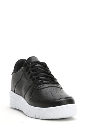 Ayakkabı Modası Siyah Beyaz Kadın Spor Ayakkabı 4000-20-101001 2