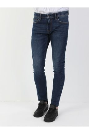 041 Danny Slim Fit Düşük Bel Slim Leg Erkek Indigo Jean Pantolon resmi