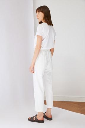 Trendyol Modest Beyaz Beli Lastikli Pantolon TCTSS21PL0570 3