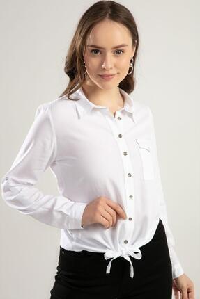 Kadın Bağlamalı Uzun Kollu Gömlek Y20s110-3617 resmi