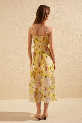 TRENDYOLMİLLA Sarı Çiçek Desenli Elbise TWOSS19EL0107 4