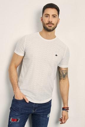 Sateen Men Erkek Beyaz Bisiklet Yaka Basic T-Shirt 144-7239 0