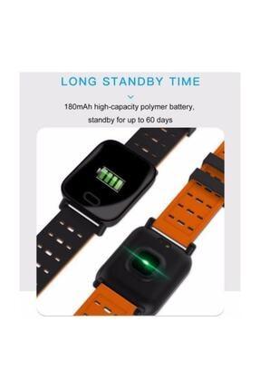 King A6 Smart Watch Akıllı Saat Suya Dayanıklı Nabız Ölçer Mavi 4