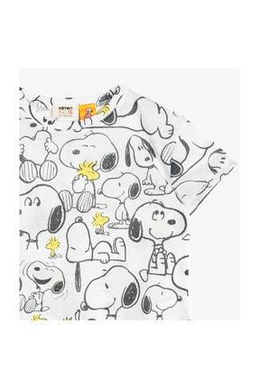 Koton Ekru Kız Çocuk T-Shirt 0YKG17045OK 2