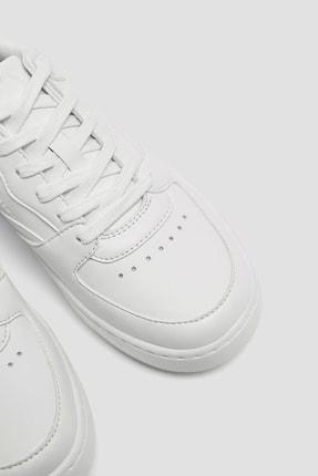 Pull & Bear Kadın Beyaz Tek Renk Spor Ayakkabı 11307540 1