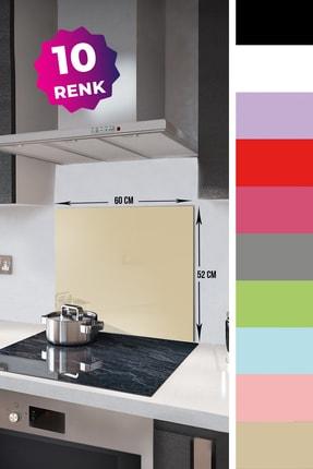 Decorita Düz Renk - Bej | Cam Ocak Arkası Koruyucu  |  52cm x 60cm 1