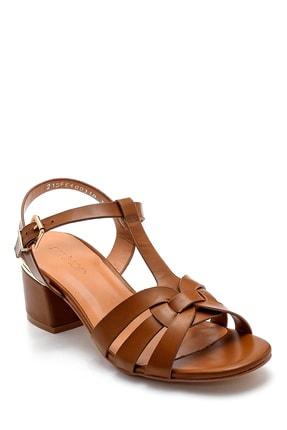 Derimod Kadın Taba Topuklu Sandalet 1