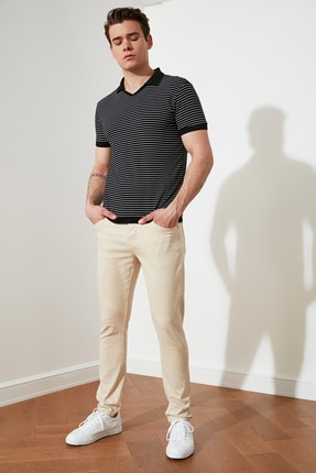 Bej Erkek Skinny Fit Pantolon TMNSS21PL0236 resmi