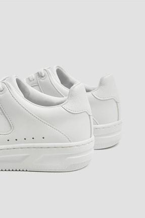 Pull & Bear Kadın Beyaz Tek Renk Spor Ayakkabı 11307540 4
