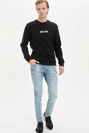 Defacto Erkek Siyah New York Baskılı Sweatshirt N2569AZ.20SP.BK27 1