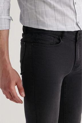 Avva Erkek Siyah Slim Fit Jean Pantolon A11y3554 1