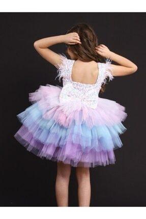 Riccotarz Kız Çocuk Rainbow Princess Elbise 2