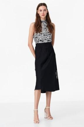 Twist Kadın Siyah Desenli Tshirt TS1200070052001 1