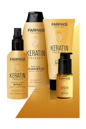 Farmasi Keratin 4'lü Bakım Seti Şampuan+sprey+maske+serum 0