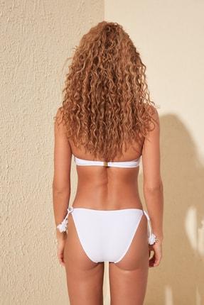 TRENDYOLMİLLA Beyaz Aplike Aksesuar Detaylı Bikini Altı TBESS20BA0243 3