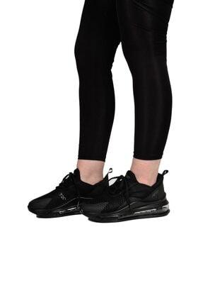 poulaine Siyah Rahat Air Taban Unisex Mevsimlik Spor Sneakers 3