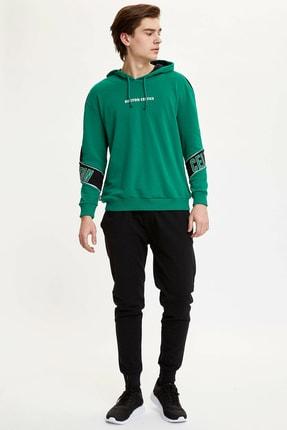 Defacto Erkek Yeşil Nba Lisanslı Sweatshirt N2605AZ.20SP.GN154 1