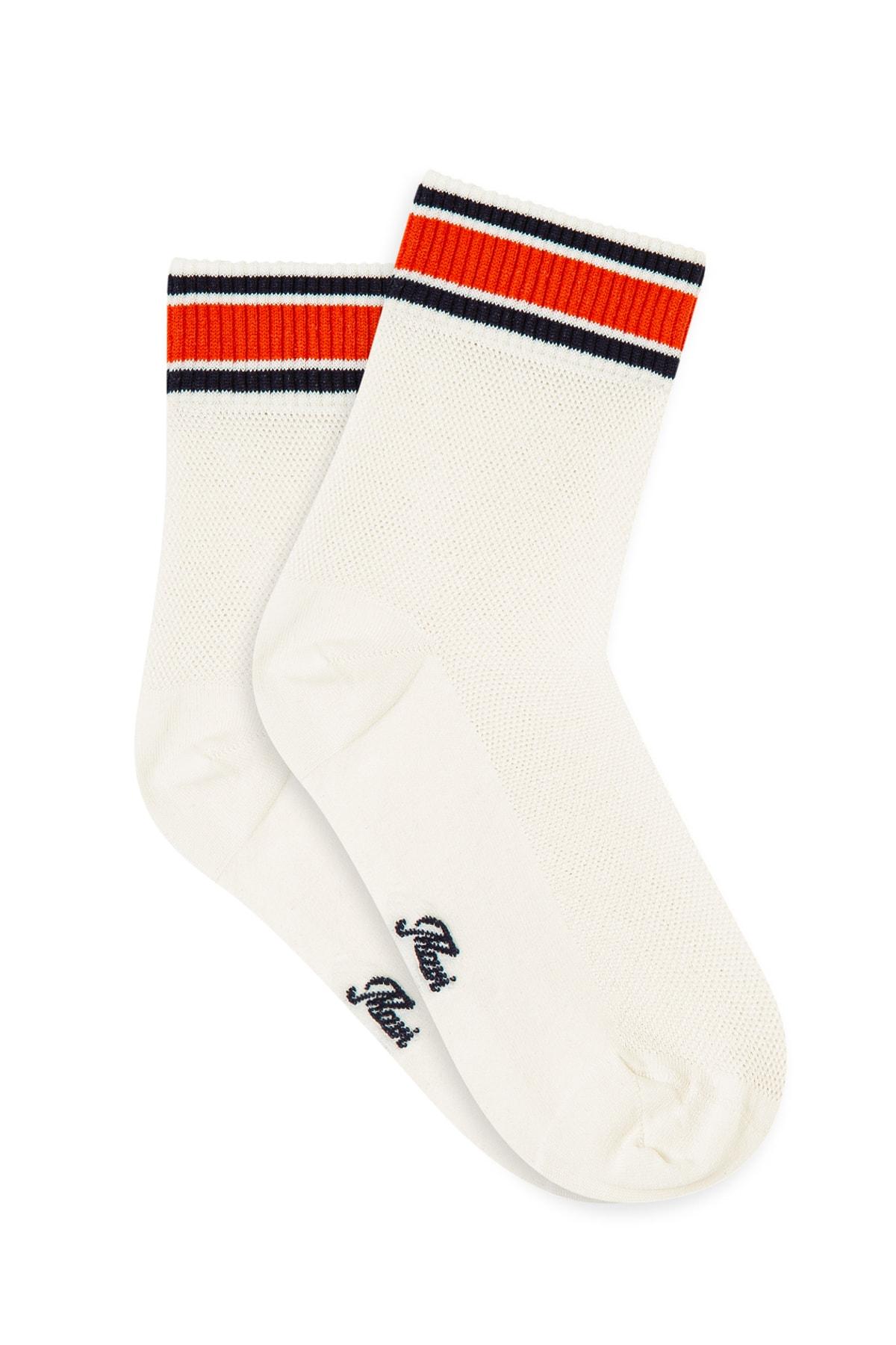 Kadın File Detaylı Çorap 197247-620