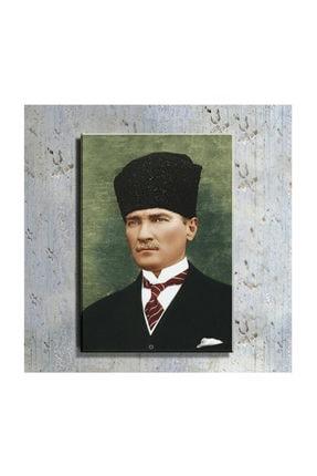 mağazacım Atatürk Kalpaklı Takım Elbiseli Portre 50 Cm X 70 Cm Kanvas Tablo Tbl1198 2