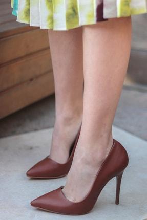 TRENDBU AYAKKABI Kahverengi Kadın Topuklu Ayakkabı 4