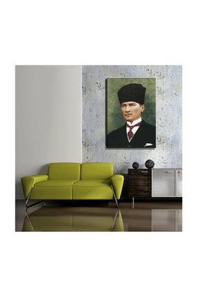 mağazacım Atatürk Kalpaklı Takım Elbiseli Portre 50 Cm X 70 Cm Kanvas Tablo Tbl1198 1