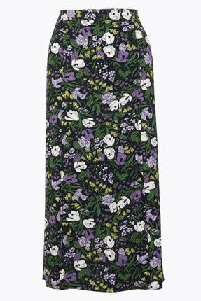 Marks & Spencer Kadın Multi Renk Çiçek Desenli Midi Etek T59007645 0
