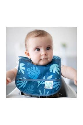 Bumkins Başlangıç Mama Önlüğü (3-6 Ay) 2li Paket - Dinasours Pack (dinosaurs & Blue Tropic) 1
