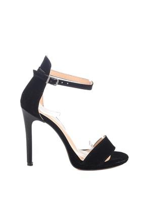 Soho Exclusive Siyah Süet Kadın Klasik Topuklu Ayakkabı 14530 4