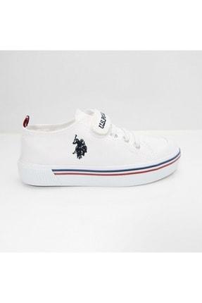US Polo Assn PENELOPE 1FX Beyaz Erkek Çocuk Sneaker 100910628 0