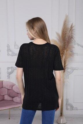 Ananas Kadın Siyah Coton Merserize Tunik 1