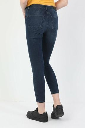 Colin's 759 Lara Süper Dar Kesim Normal Bel Süper Dar Paça Koyu Mavi Kadın Pantolon CL1048711 1