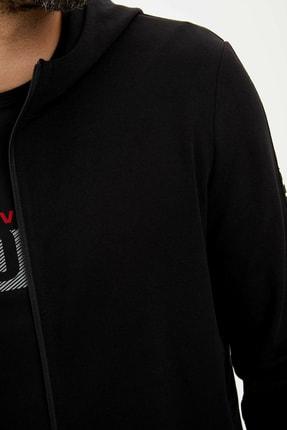 Defacto Kapüşonlu Slim Fit Fermuarlı Sweatshirt 3