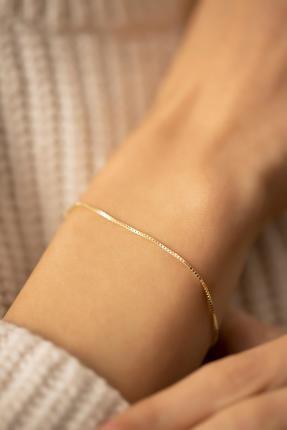İzla Design Zincir Model Altın Kaplama Gümüş Italyan Bileklik 2