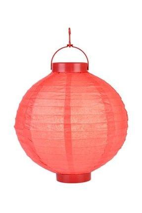 Pandoli 20 Cm Led Işıklı Kağıt Japon Feneri Kırmızı Renk 0