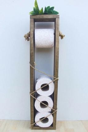 Tuvalet Kağıtlık Ahşap Tuvalet Kağıdı Standı Tuvalet Kağıtlığı WDN112