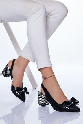 Ayakkabı Frekansı Chano Topuklu Ayakkabı Siyah Cilt 0