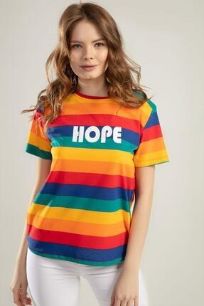 Pattaya Kadın Renk Bloklu Kısa Kollu Tişört Y20s110-4140 1