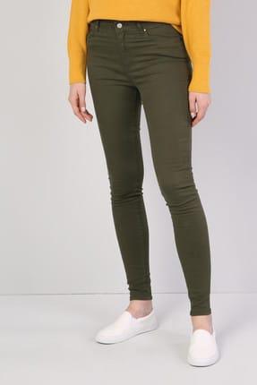 Colin's Super Slim Fit Yüksek Bel Skinny Leg Kadın Haki Pantolon 0