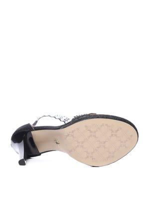 Kemal Tanca Hakiki Deri Siyah Kadın Abiye Ayakkabı 539 4006 BN AYK 4